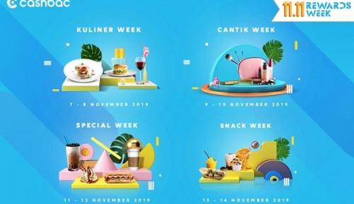 Cashbac Hadirkan Reward Week, Festival Belanja 11.11 Makin Seru!