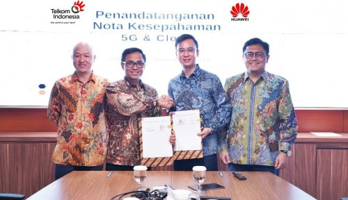 Foto Telkom-Huawei Kerja Sama Program Inovasi Teknologi 5G dan Cloud