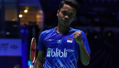 Foto Ginting Melaju ke Final, Siap Babat Habis Kento Momota!