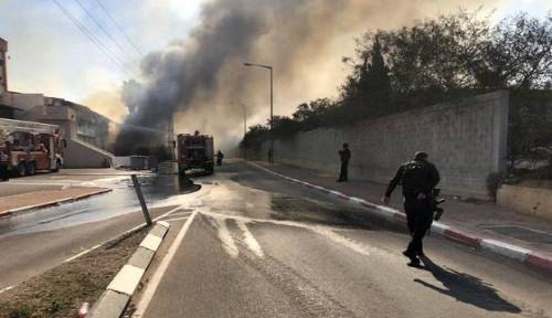 Foto Memanas, Gaza Tembakkan 190 Roket ke Israel