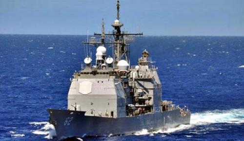 Foto Kapal Perang AS Lintasi Selat Taiwan untuk Pertama Kali, Para Kru Saling Berinteraksi