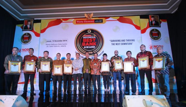 Foto Inilah Para Peraih Indonesia Best Bank Award 2019