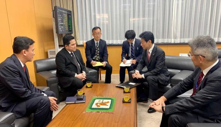 Temui Menteri Jepang, Erick Thohir Bahas Perdagangan, Investasi, dan Peningkatan Skill SDM - Warta Ekonomi