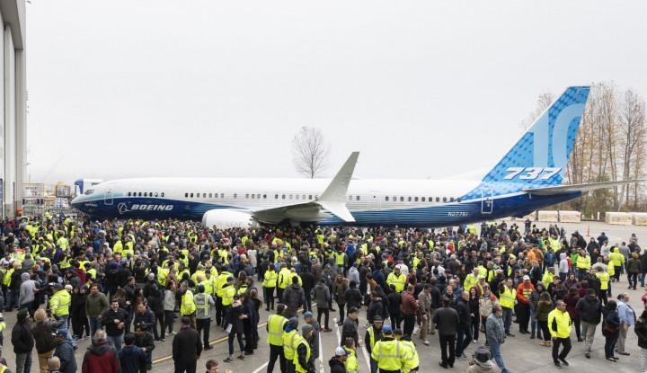Perdana, Tampilan Pesawat Boeing 737 MAX 10 - Warta Ekonomi