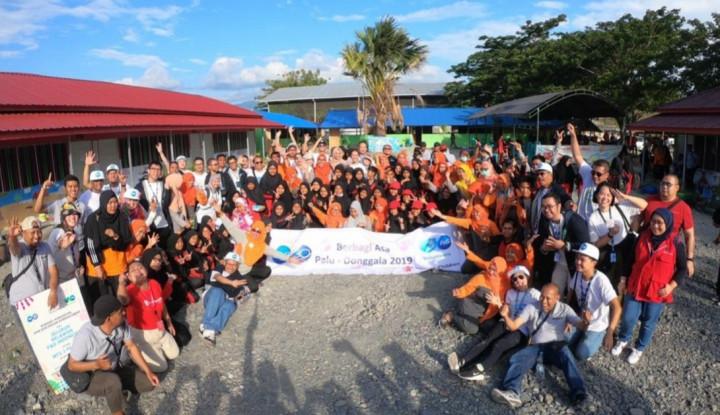 relawan p&g rehabilitasi fasilitas pendidikan 1.400 siswa palu dan donggala