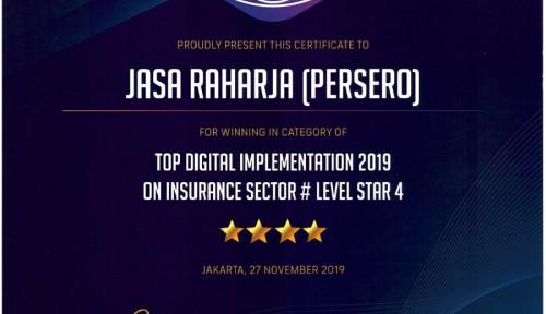 Berjaya, Dua Penghargaan di Ajang Top Digital Award 2019 Diraih Jasa Raharja