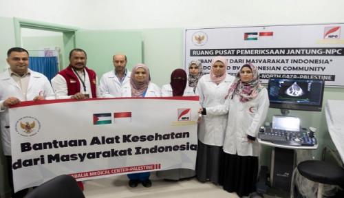 Foto Salut, RI Serahkan Bantuan Alat Kesehatan pada Rumah Sakit di Gaza