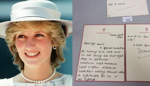 Foto Fantastis, Surat Tulisan Tangan Putri Diana Tentang Kedua Putranya Dijual Nyaris Rp60 Juta