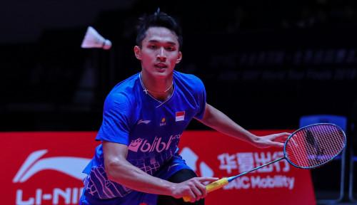 Foto Dibungkam Antonsen, Jonatan Christie Gagal Melenggang ke Semifinal