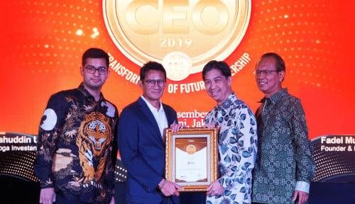 Foto Presdir DBS Bank Raih Penghargaan Indonesia Most Admired CEO 2019