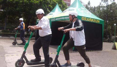 Foto GrabWheels Tekan Angka Kecelakaan Kota Bandung, Top!