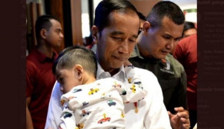 Jokowi Gendong Jan Ethes, Cetus Demokrat: Rakyat Siapa yang Gendong Pak? - Warta Ekonomi