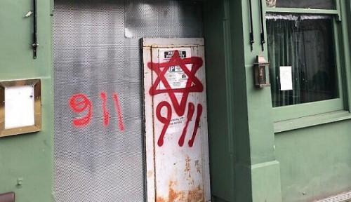 Serangan 9/11 Dikaitkan dengan Yahudi, Grafiti Anti-Semit Bermunculan di London