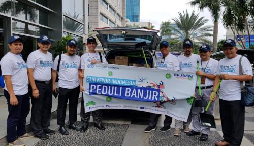Surveyor Indonesia Turun Tangan Bantu Korban Banjir Jabodetabek