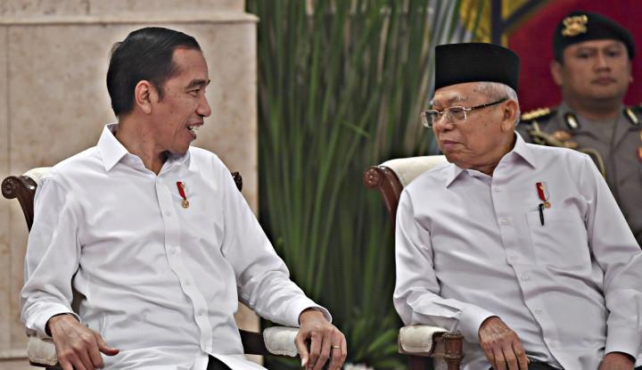 Jokowi Curhat ke Ma'ruf Amin Lebaran Tak Ditemani Anak-anak saat Silaturahmi Virtual