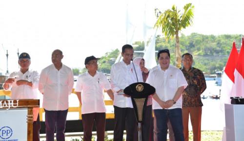 Foto Jokowi Resmikan Destinasi Pariwisata Super Prioritas Kawasan Marina Labuan Bajo Milik PTPP dan ASDP