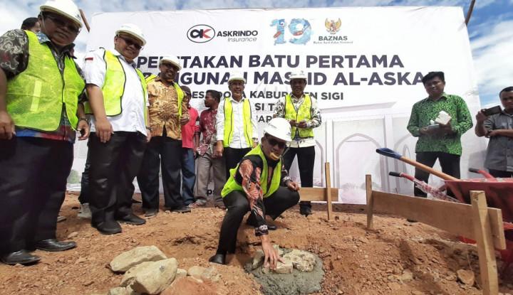 Gandeng Baznas, Askrindo Serahkan Bantuan Pembangunan Masjid di Sulawesi Tengah - Warta Ekonomi