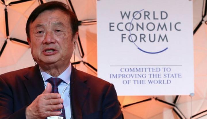Di Forum Ekonomi Dunia, Pendiri Huawei Pede Bilang: Amerika Bakal Serang Kami Lagi! - Warta Ekonomi