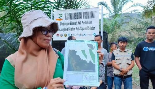 Foto 200 KK Buka Lahan Ilegal dalam Hutan Lindung Angkola