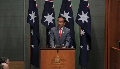 Foto Di Hadapan Parlemen Australia, Jokowi Santai Pidato Pakai Bahasa Indonesia