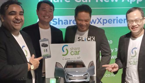 Foto Layanan Rental Mobil Tanpa Kunci Share Car Pamer Fitur Baru di Aplikasinya