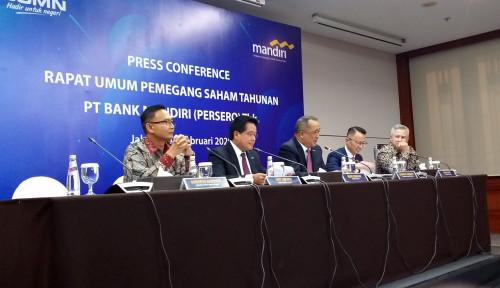 Foto Dapat Rezeki Nomplok, Bank Mandiri Tebar Dividen Rp16,49 Triliun