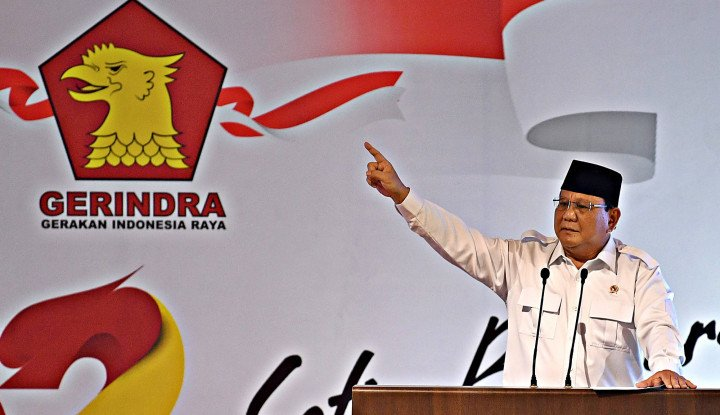 Lama Tak Bersuara, Prabowo Muncul dan Semangat'45 Bilang: Kita Optimis, Kita Mampu. . . .