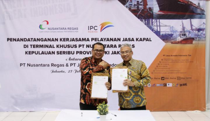 Nusantara Regas dan Jasa Armada Indonesia Kerja Sama Pengelolaan Operasi Pelayanan Jasa Kapal LNG - Warta Ekonomi