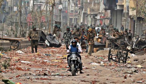 Sisa-sisa Bekas Kerusuhan Kampung Muslim di New Delhi, Jurnalis Gambarkan Seperti Kota Hantu