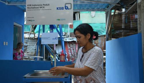 Foto Fasilitasi Masyarakat Sering Cuci Tangan, Produsen Pompa Air Revitalisasi Sarana MCK