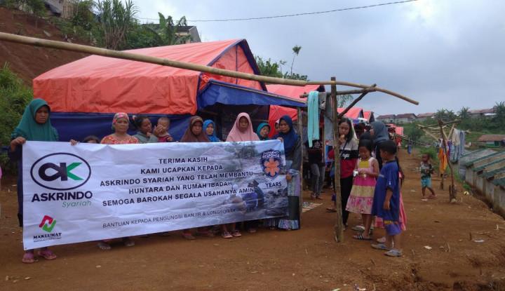 Bantu Pemulihan Korban Tanah Longsor, Askrindo Syariah Bangun Huntara di Jasinga - Warta Ekonomi