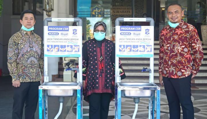 Rucika Sediakan Fasilitas Cuci Tangan untuk Warga Surabaya - Warta Ekonomi