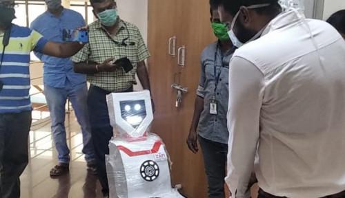 Foto Demi Bantu Para Dokter Perangi Wabah Corona, India Cepat Tanggap Kirim Robot Humanoid