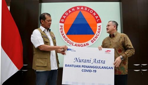 Foto BNPB Terima Bantuan Pencegahan Covid-19 dari Grup Astra, Nilainya...