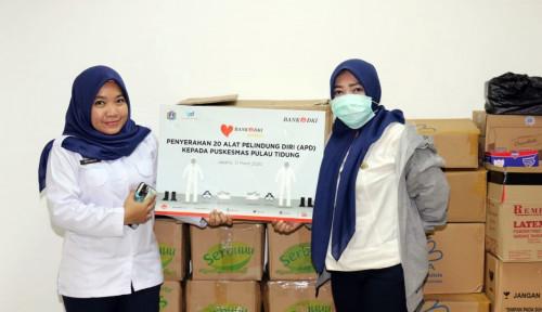 Foto Bank DKI Sumbang APD ke Tenaga Medis Pulau Tidung