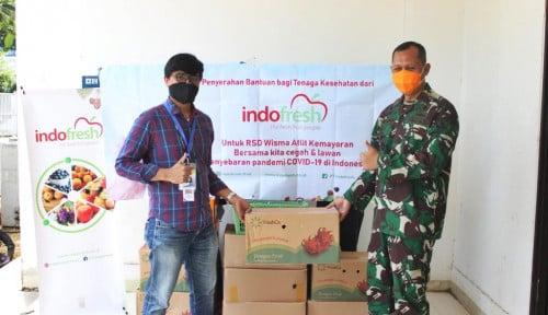 Foto Sigap Hadapi Covid-19, Indofresh Turunkan Bantuan 1 Ton Buah Segar bagi RSD Wisma Atlet Kemayoran