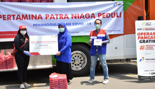 Foto PT Pertamina Patra Niaga Sediakan  Makanan Sehat untuk Tenaga Medis RS Pelni