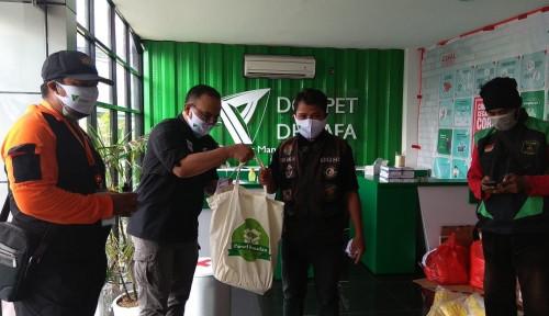 Foto Rentan Terpapar Virus, Ojol Terima Banyak Bantuan