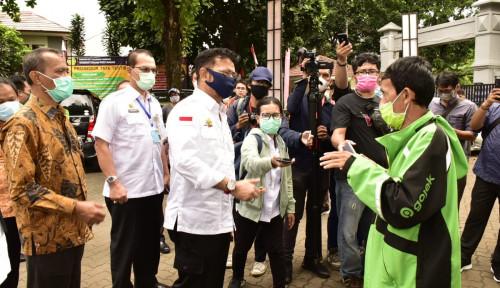 Foto Sidak TTIC, Ojol Minta Mentan Syahrul Perpanjang Waktu Operasional Pasar