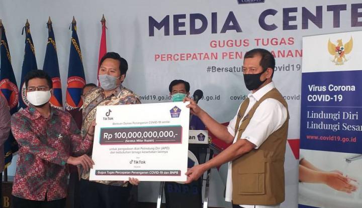 TikTok Sumbang Rp100 M untuk Penanganan Covid-19, BNPB: TikTok-ers, Kalian Pahlawan Kemanusiaan!