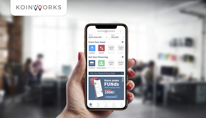 KoinWorks Raih Dana Segar Rp149 Miliar, Mau Perkuat Bisnis UKM Digital