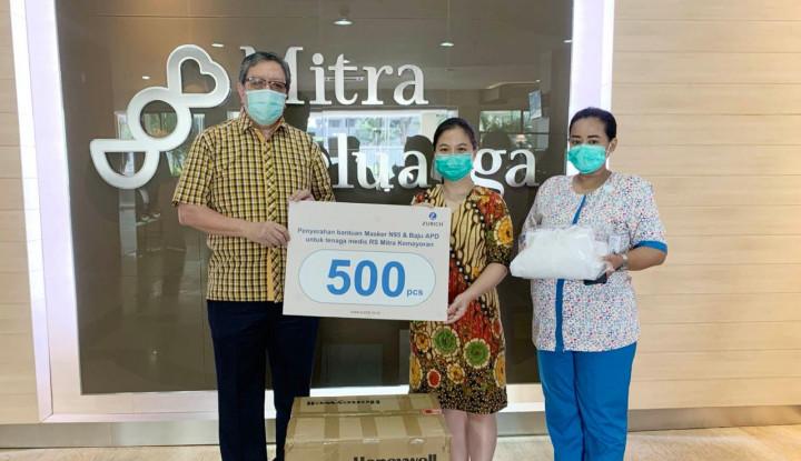 Kasus Positif Corona Terus Meningkat, Zurich Donasikan APD ke RS Mitra Kemayoran