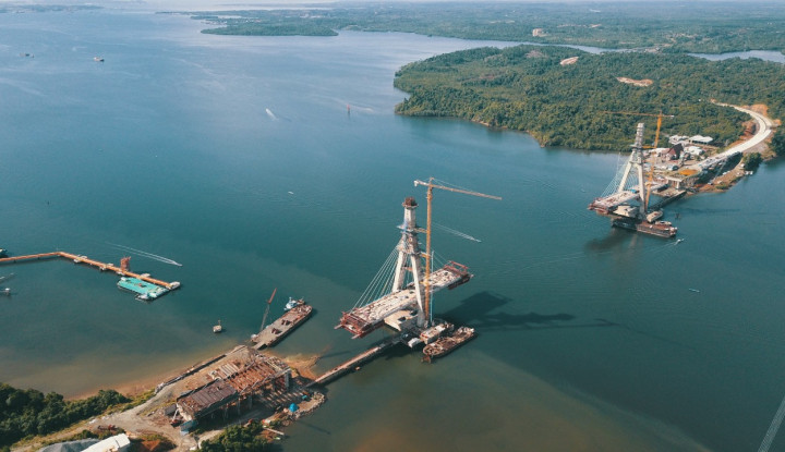 Jembatan Terpanjang Kedua setelah Suramadu Ini Telah Capai Progres 76%. Begini Update Terbarunya