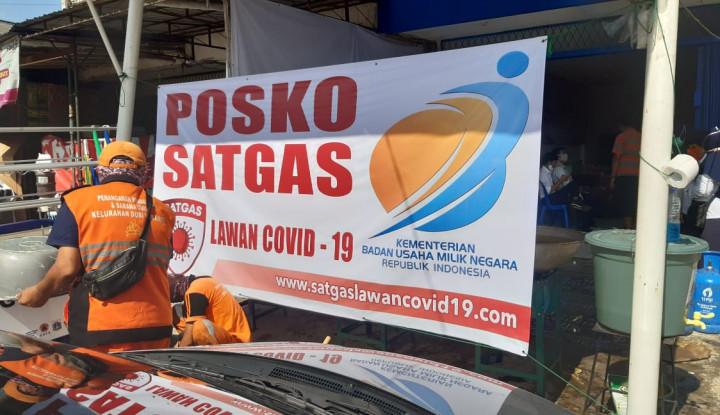 PTPP Salurkan Bahan Baku Makanan Bantuan ke Posko Masak DKI