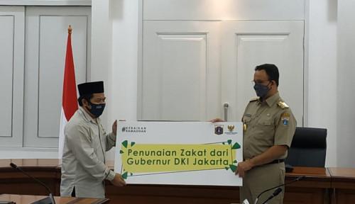 Anies dan Reza Patria Bayarkan Zakat Mal Lewat Baznas DKI