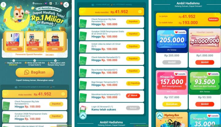 Simak! Begini 5 Cara Berburu Hadiah Digital UC Browser