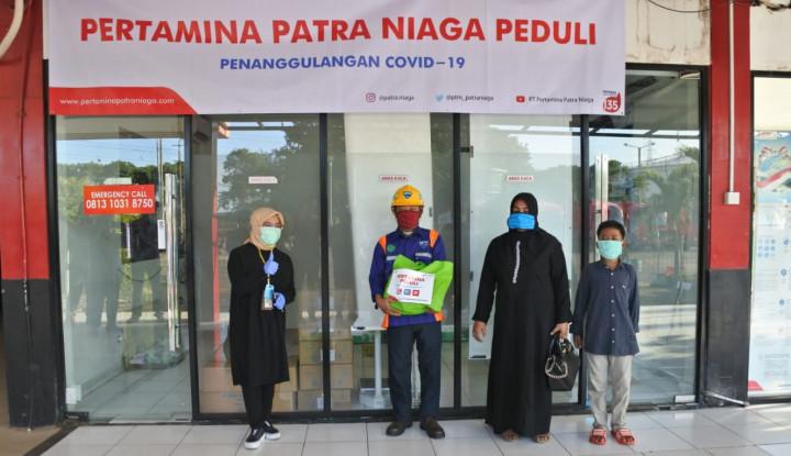 Pertamina Patra Niaga Bagi Sembako untuk Keluarga AMT