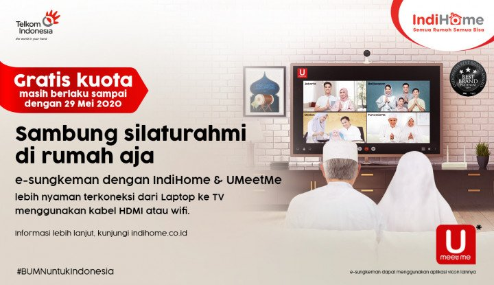 2 Juta Pelanggan IndiHome Akses Layanan Video Conference melalui Program e-sungkeman