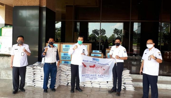sucofindo beri bantuan lagi ke masyarakat dan relawan covid-19