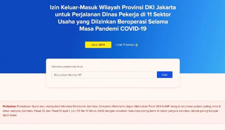Cara Ajukan SIKM: Surat Izin Keluar Masuk DKI Jakarta